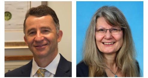 Drs. Igor Koralnik and Ruth Brack-Werner